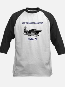 USS THEODORE ROOSEVELT Kids Baseball Jersey