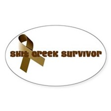 Cute Shit creek survivor Decal