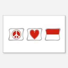 Peace, Love and Indonesia Decal