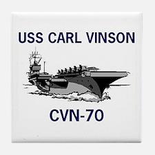 USS CARL VINSON Tile Coaster