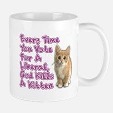 God Kills A Kitten Mug