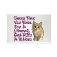 God Kills A Kitten Rectangle Magnet