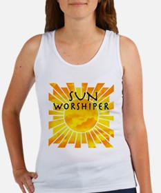 Cute Sun worshipper Women's Tank Top
