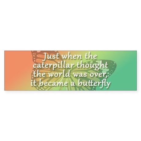 """Be the Butterfly"" Sticker (Bumper)"