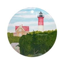 Nauset Beach Lighthouse Ornament (Round)