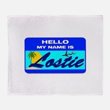 Hello My Name is Lostie! Throw Blanket