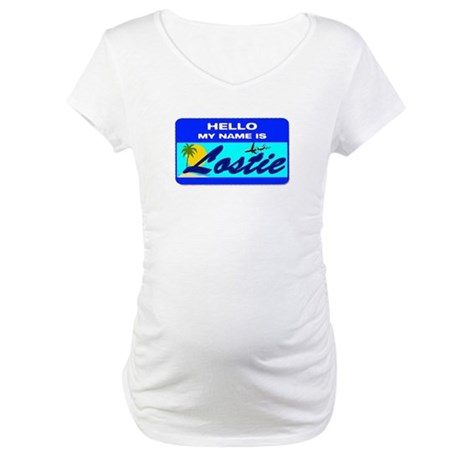 Hello My Name is Lostie! Maternity T-Shirt