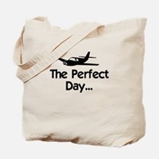 Perfect Day Airplane Tote Bag