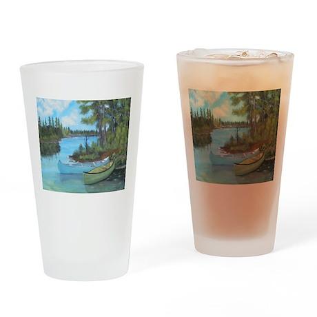 Canoe Painting Drinking Glass
