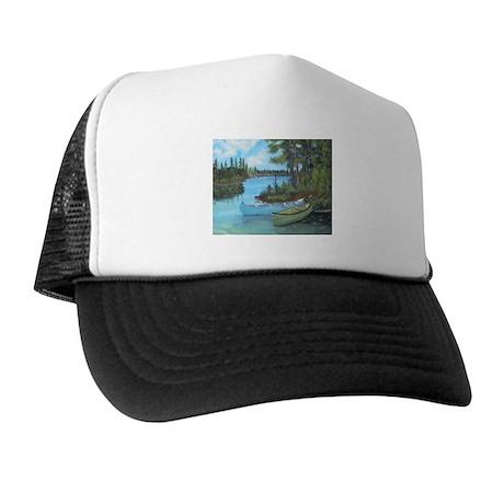 Canoe Painting Trucker Hat