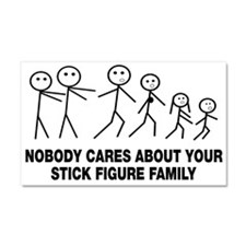 Anti Stick Figure Family Car Magnet 20 x 12
