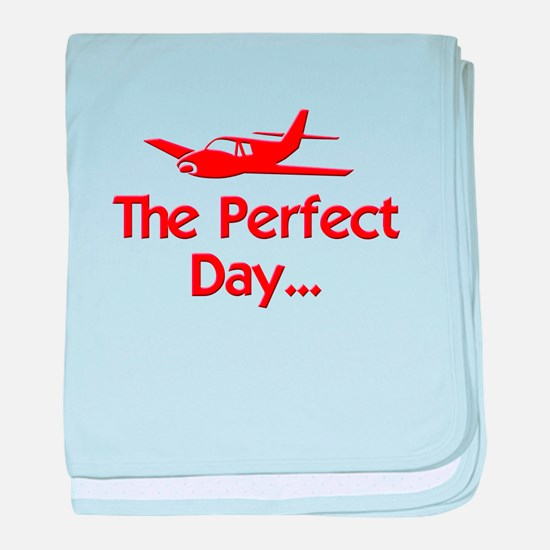 Perfect Day Airplane baby blanket