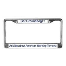 Cute Patterdale dog License Plate Frame