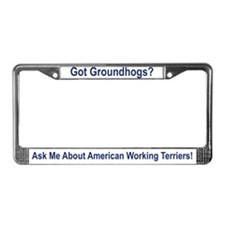 Cute Hunting dog License Plate Frame