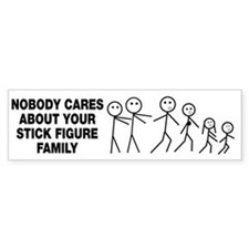Anti Stick Figure Family Bumper Bumper Sticker