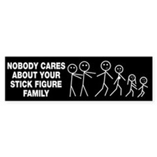 Anti Stick Figure Family Bumper Sticker