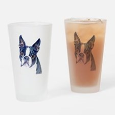 Cool Boston terrier Drinking Glass