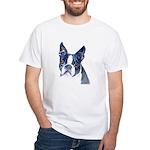 White T-Shirt Boston Terrier