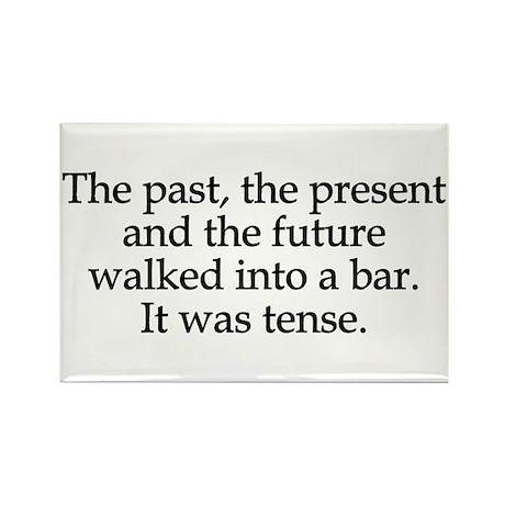 Past Present Future Tense Rectangle Magnet