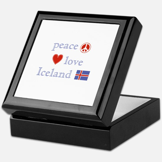 Peace, Love and Iceland Keepsake Box