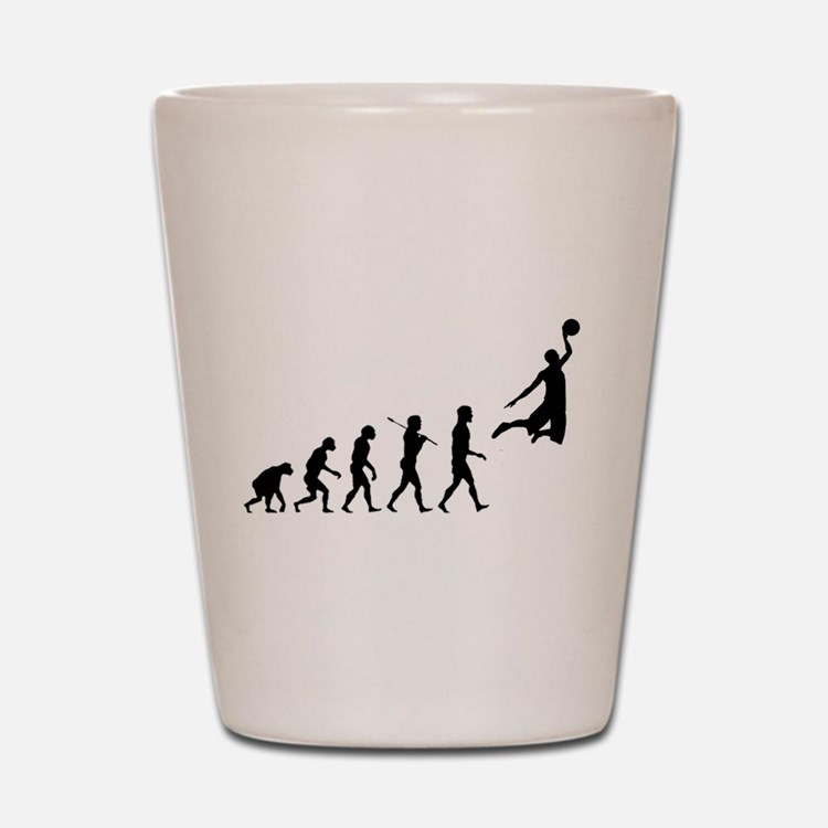 Cute Basketball evolution Shot Glass