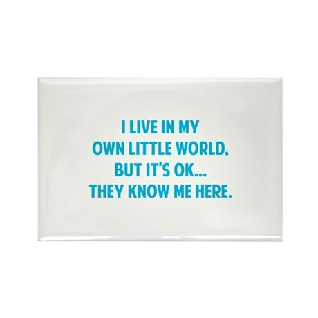 They Know Me Here Rectangle Magnet (100 pack)