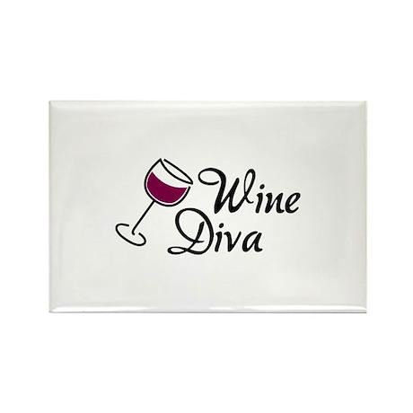 Wine Diva Rectangle Magnet