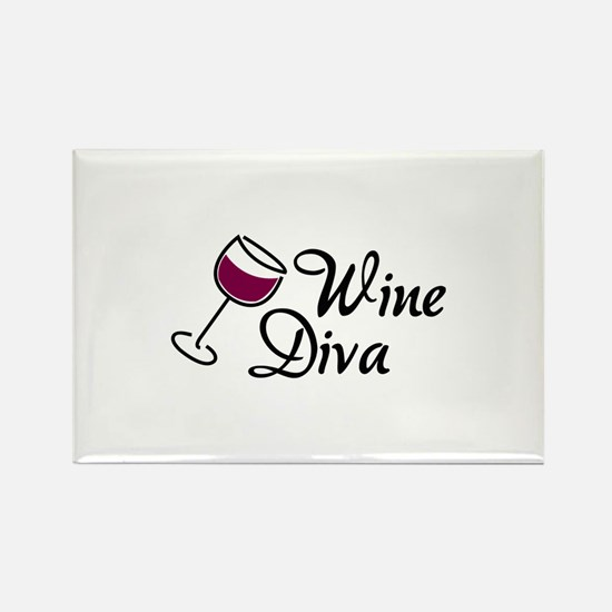 Wine Diva Rectangle Magnet (10 pack)