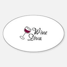 Wine Diva Sticker (Oval)