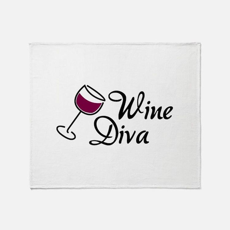 Wine Diva Throw Blanket