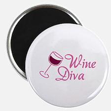 """Wine Diva 2.25"""" Magnet (10 pack)"""