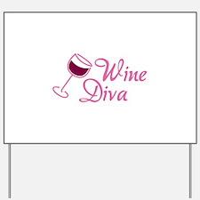 Wine Diva Yard Sign
