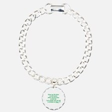 Half Full Half Empty Beer Charm Bracelet, One Char