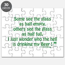 Half Full Half Empty Beer Puzzle