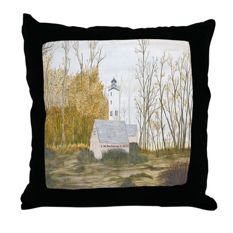 First Frost At Presque Isle Throw Pillow