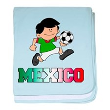 Mexican Soccer (Football) baby blanket
