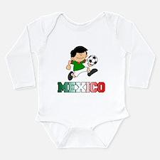 Mexican Soccer (Football) Long Sleeve Infant Bodys