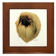 Pekingese Framed Tile
