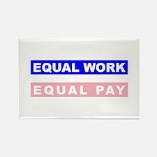 Equal Work Equal Pay Rectangle Magnet