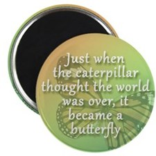 """""""Be the Butterfly"""" Magnet (Round)"""
