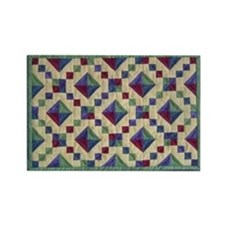 Jewel Box Quilt Rectangle Magnet