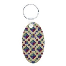 Jewel Box Quilt Keychains