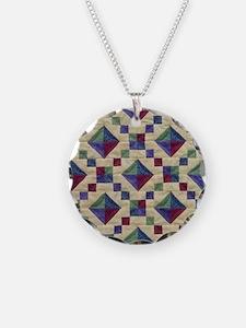 Jewel Box Quilt Necklace