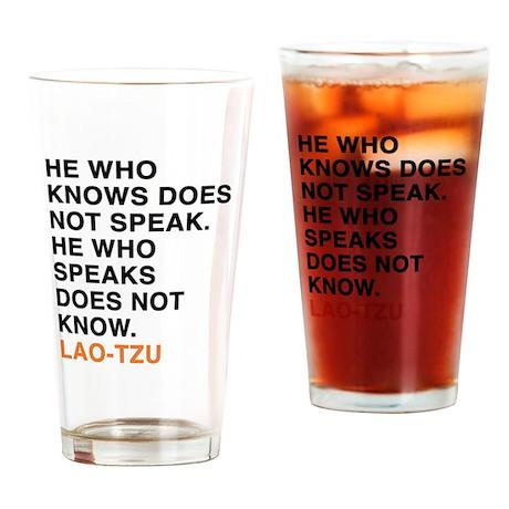 Lao Tzu Drinking Glass