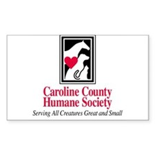 Caroline Co. Humane Soc. Rectangle Decal
