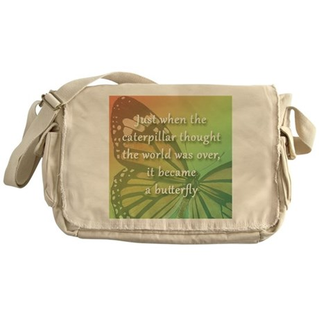 """""""Be the Butterfly"""" Messenger Bag"""