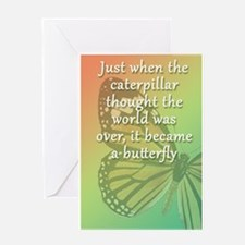 """Be the Butterfly"" Greeting Card"