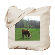 Cow Grazing Tote Bag