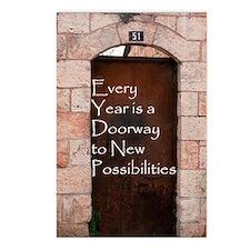 Doorway Rosh Hashana Postcards (Package of 8)