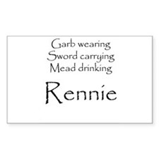 Rennie Rectangle Decal